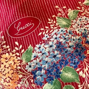 GUCCI Silk Floral Scarf VINTAGE